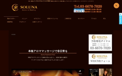 Screenshot of www.soluna-esthe.com