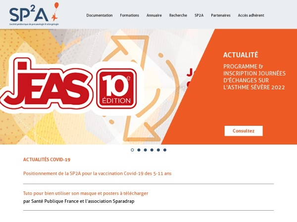 Screenshot of www.sp2a.fr
