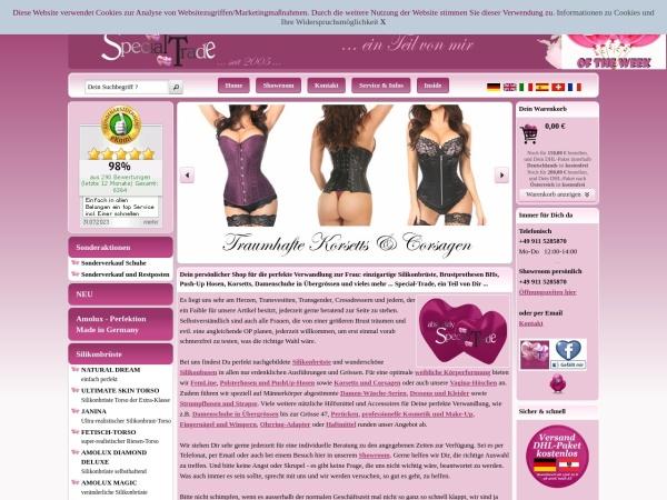 Screenshot von www.special-trade.de