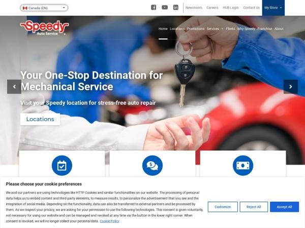 Screenshot of www.speedy.com