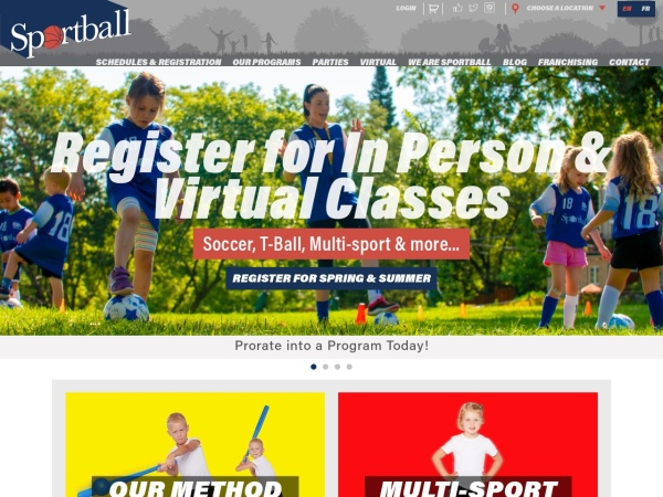 Screenshot of www.sportball.ca