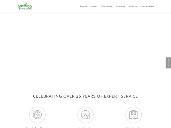 Screenshot of www.spotlessdrycleaners.com