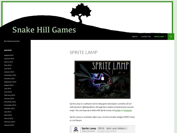 Screenshot of www.spritelamp.com