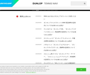 Screenshot of www.srixon-tennis.com