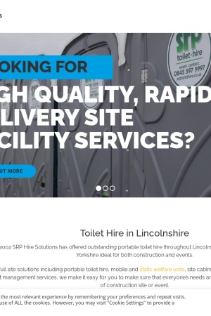 Screenshot of www.srptoilethire.co.uk