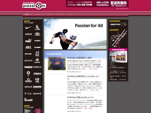 Screenshot of www.sspassion.com