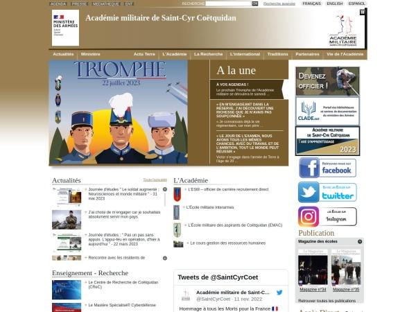 Screenshot of www.st-cyr.terre.defense.gouv.fr