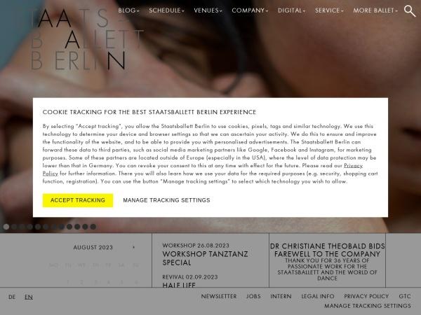 Screenshot of www.staatsballett-berlin.de