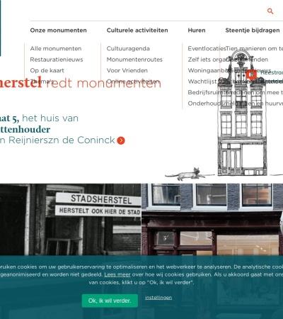 Screenshot of www.stadsherstel.nl