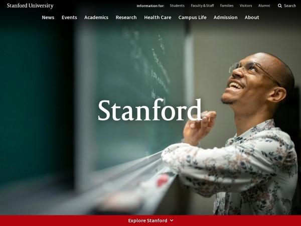 Screenshot of www.stanford.edu