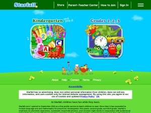 Screenshot of www.starfall.com