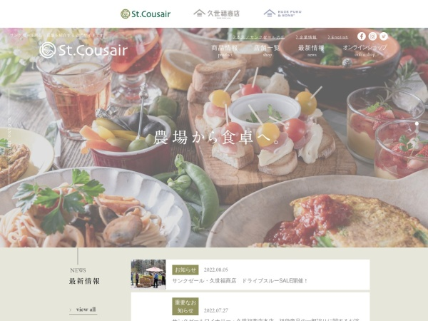 Screenshot of www.stcousair.co.jp