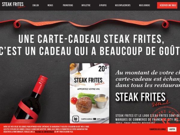 Screenshot of www.steakfrites.ca