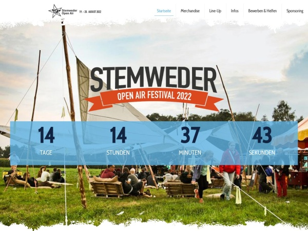 Screenshot of www.stemwederopenair.de