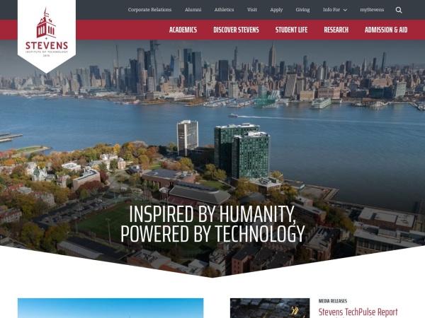 Screenshot of www.stevens.edu