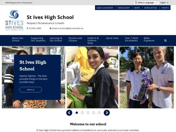 Screenshot of www.stives-h.schools.nsw.edu.au