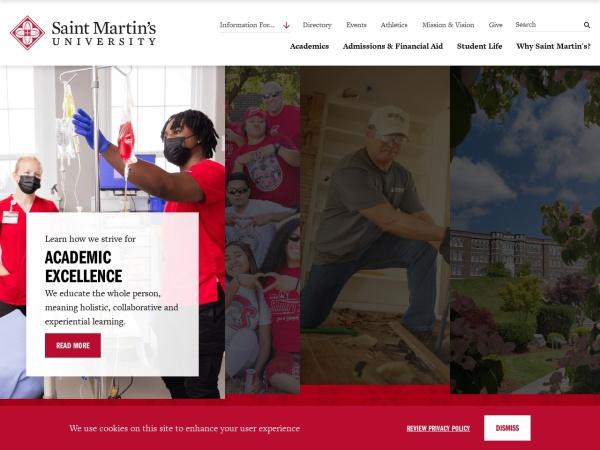 Screenshot of www.stmartin.edu