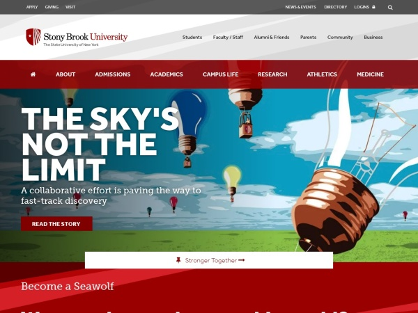 Screenshot of www.stonybrook.edu