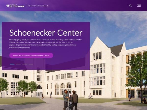 Screenshot of www.stthomas.edu
