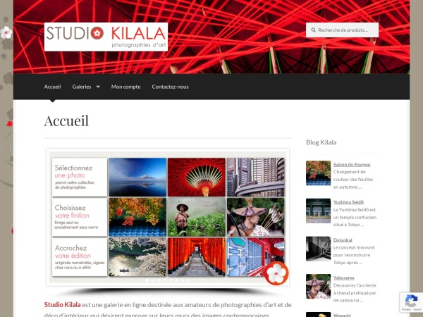 Screenshot of www.studio-kilala.com