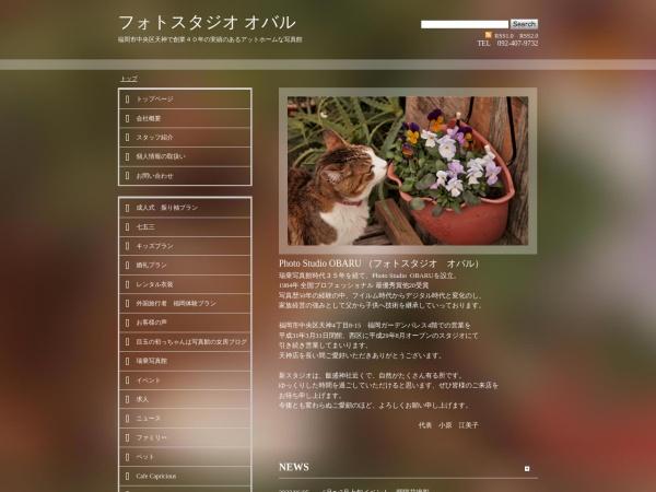Screenshot of www.studio-obaru.jp