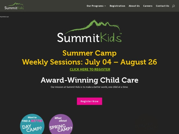 Screenshot of www.summitkids.ca