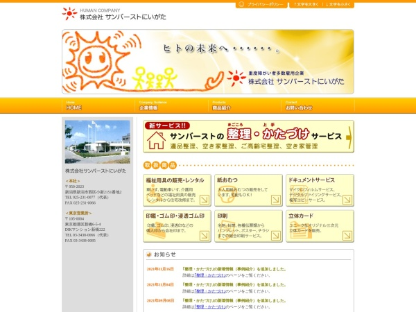 Screenshot of www.sunburst-n.co.jp