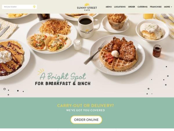 Screenshot of www.sunnystreetcafe.com