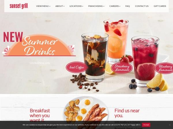 Screenshot of www.sunsetgrill.ca