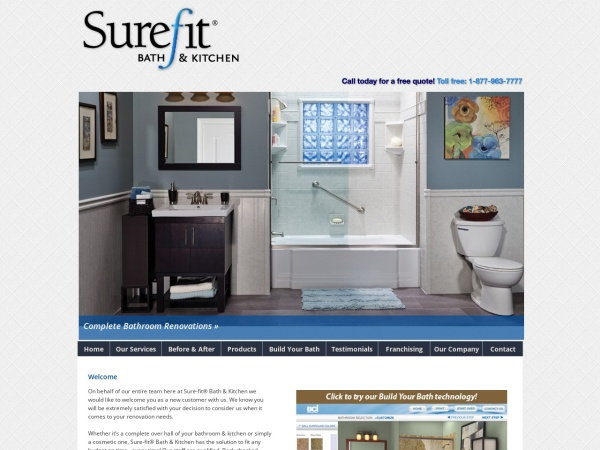 Screenshot of www.sure-fitbathsystems.com