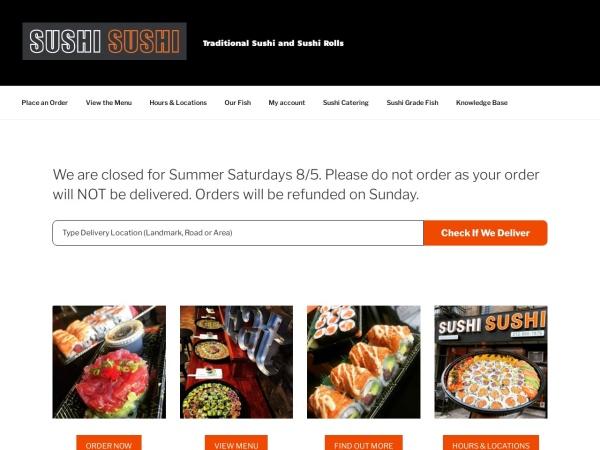 Screenshot of www.sushisushi.com