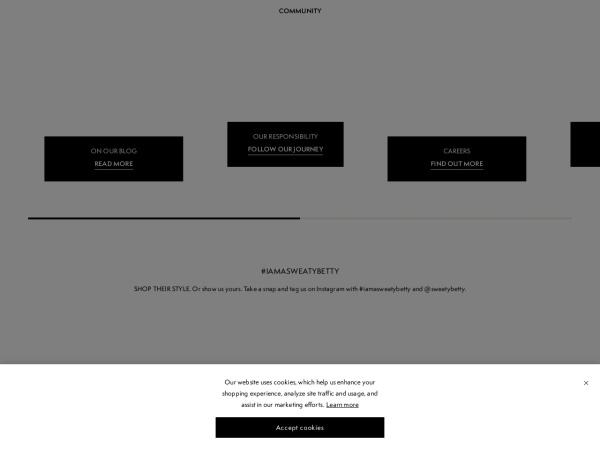 Screenshot of www.sweatybetty.com