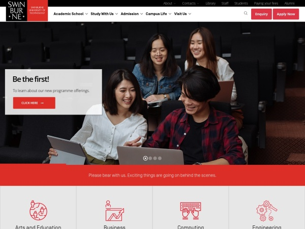 Screenshot of www.swinburne.edu.my