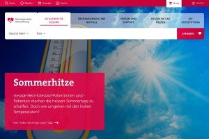 Screenshot of www.swissheart.ch