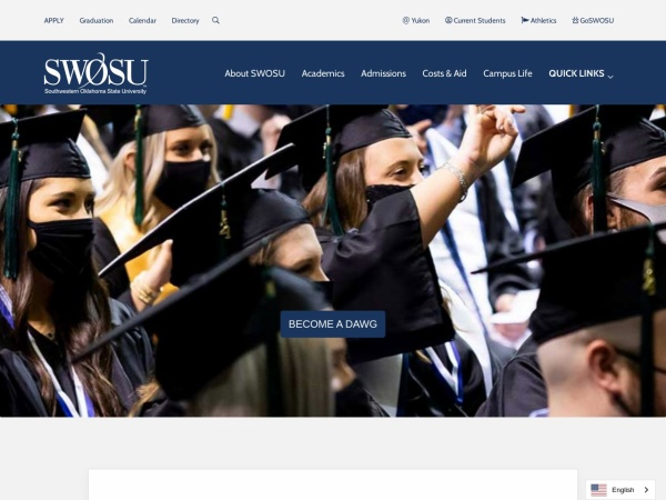 Screenshot of www.swosu.edu
