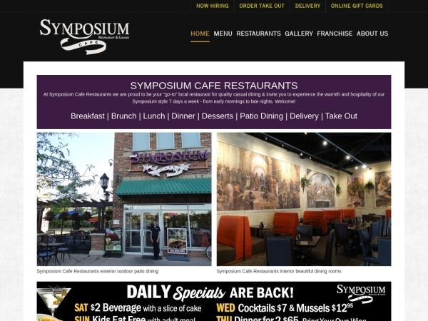 Screenshot of www.symposiumcafe.com