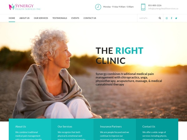 Screenshot of www.synergyhealthservices.ca