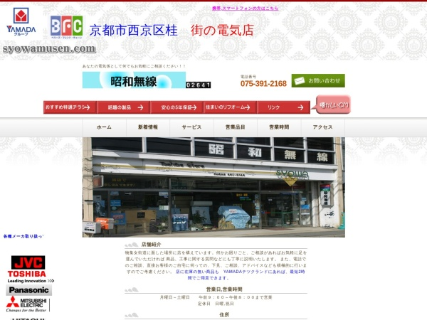 Screenshot of www.syowamusen.com