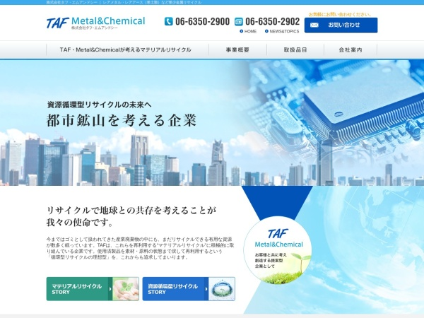 Screenshot of www.tafmc.com