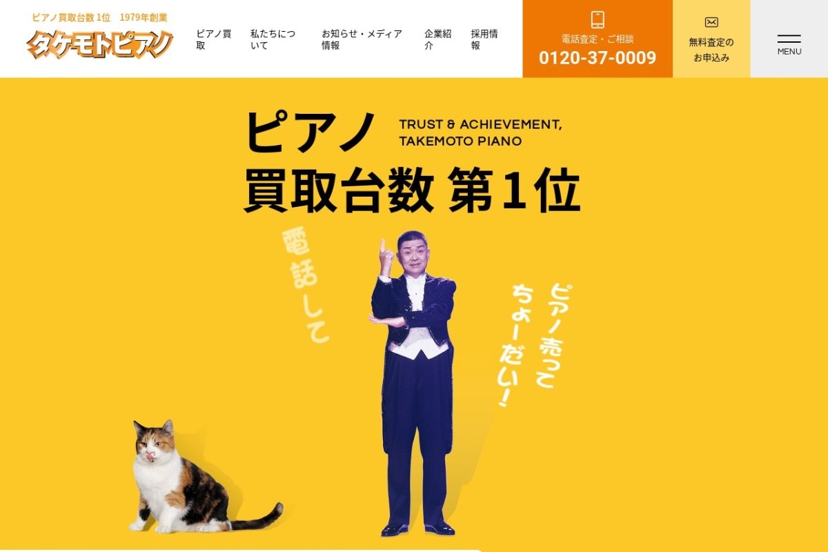 Screenshot of www.takemotopiano.com