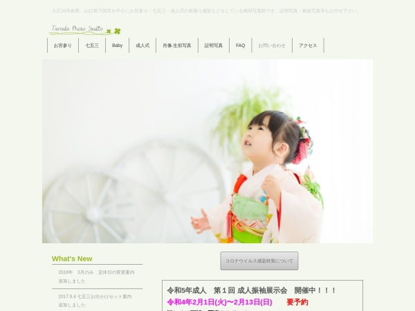 Screenshot of www.taneda-photo.jp
