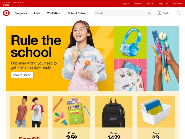 Screenshot of www.target.com