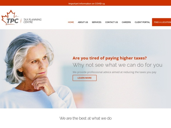 Screenshot of www.taxplanningcentre.com