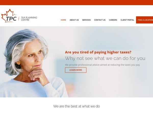 Screenshot of www.taxplanningcentre.com