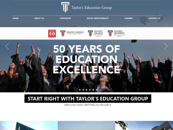 Screenshot of www.taylors.edu.my