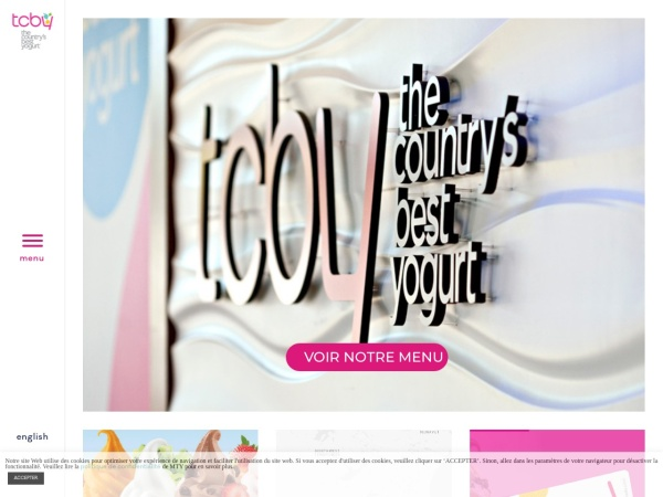 Screenshot of www.tcbycanada.com