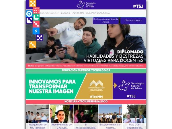 Screenshot of www.teclagos.edu.mx