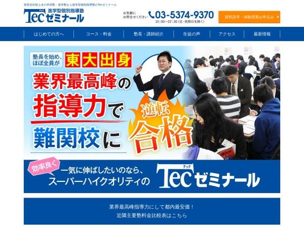 Screenshot of www.tecseminar.jp