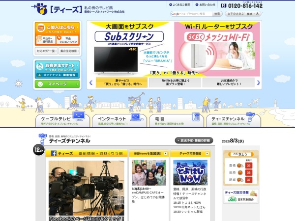 Screenshot of www.tees.ne.jp