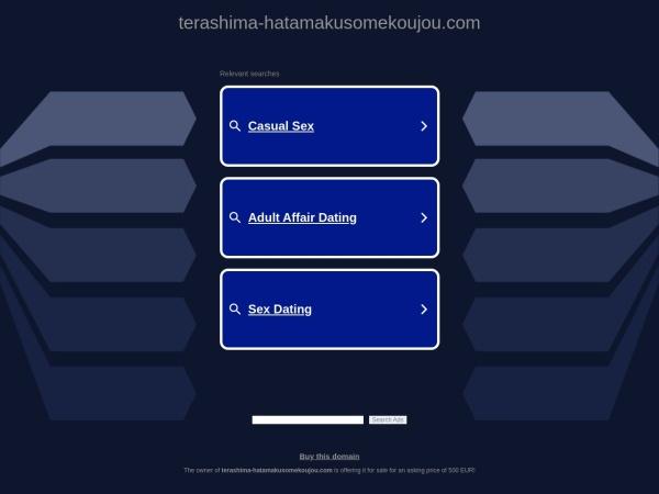 Screenshot of www.terashima-hatamakusomekoujou.com